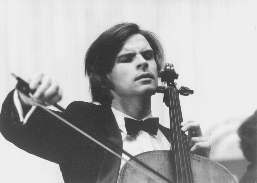 Andrzej Bauer during the concert on 21 September 1991