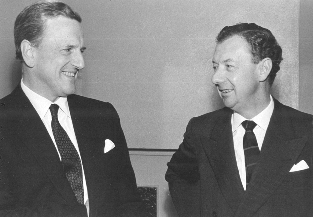 Benjamin Britten and Peter Pears (1961), photo by Andrzej Zborski