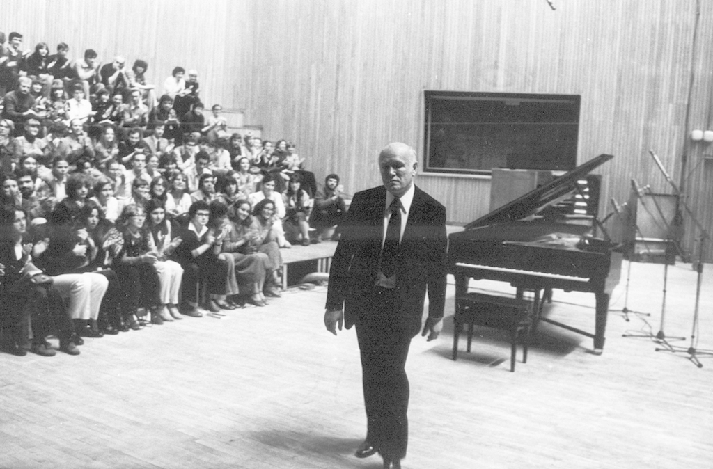 Sviatoslav Richter during the concert on 20 September 1980, photo by Jan Hausbrandt